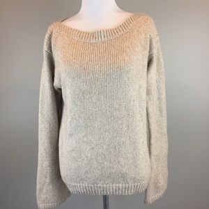 White House Black Market Beige Pullover Sweater